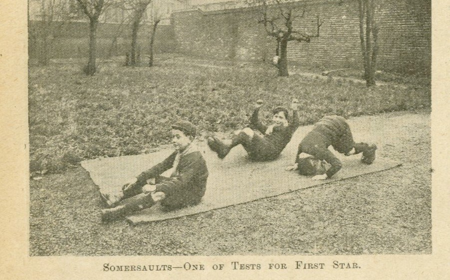 Wolf Cubs; somersault; 1916; caxton hall;