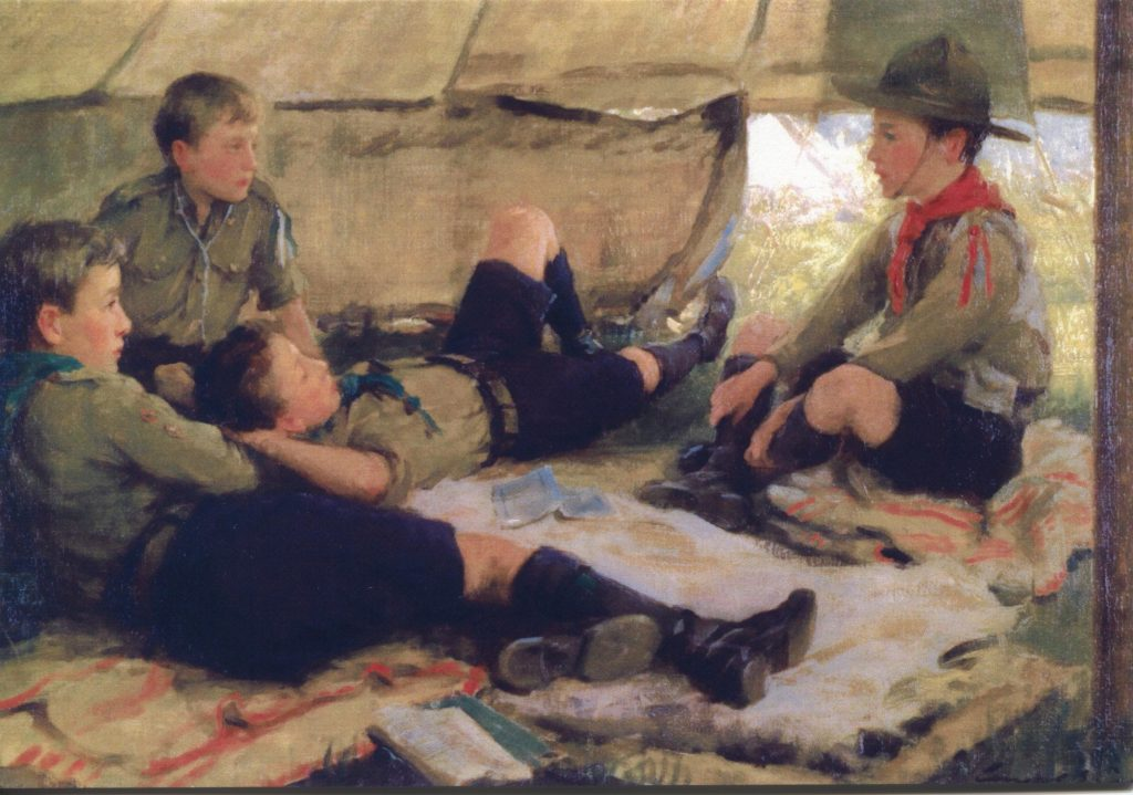 Scouts; camping; Ernest Stafford Carlos; Ripping Yarn;