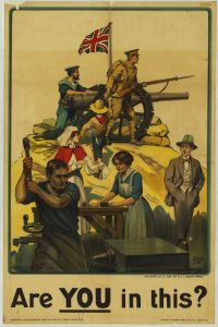 First World War; Recuitment Poster; Are you in this?; Robert Baden-Powell; Scouts;