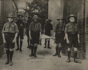 Scouts; First World War; stretcher bearers;
