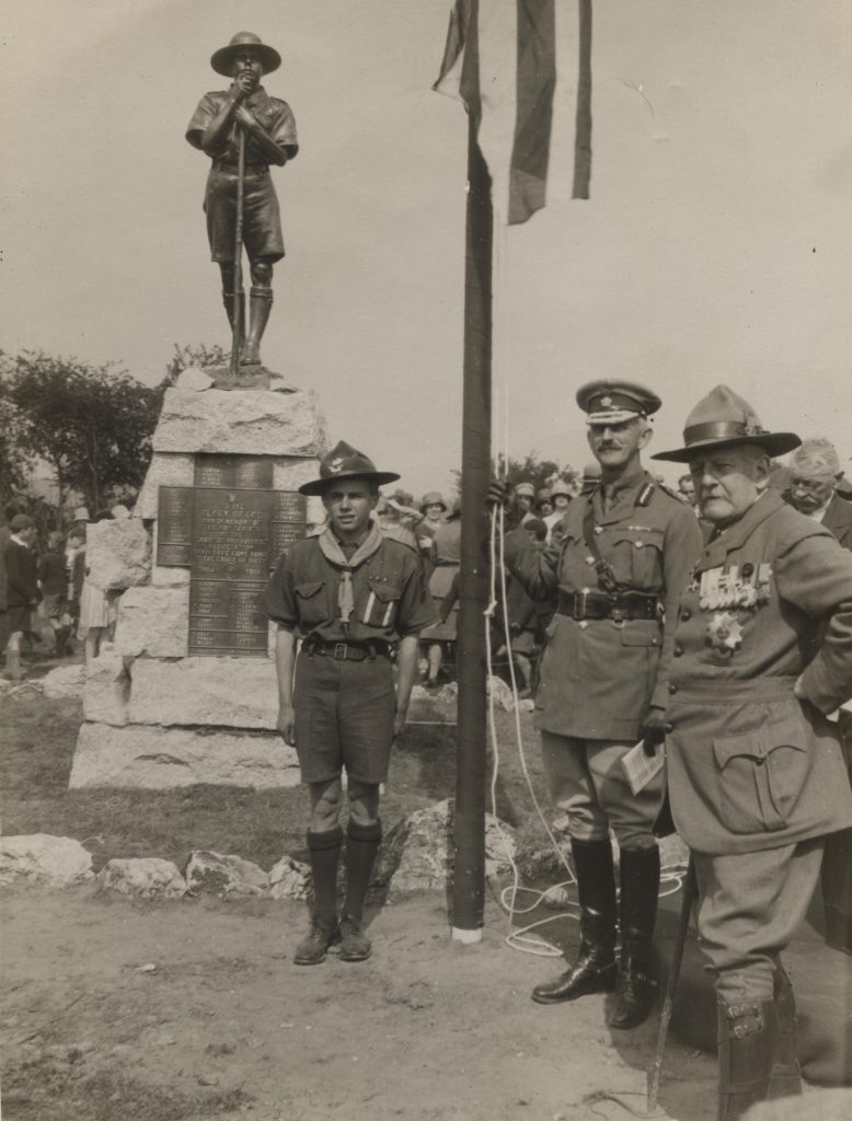 Scouts; memorial; oxshott; kingston on thames; first world war; remembrance;