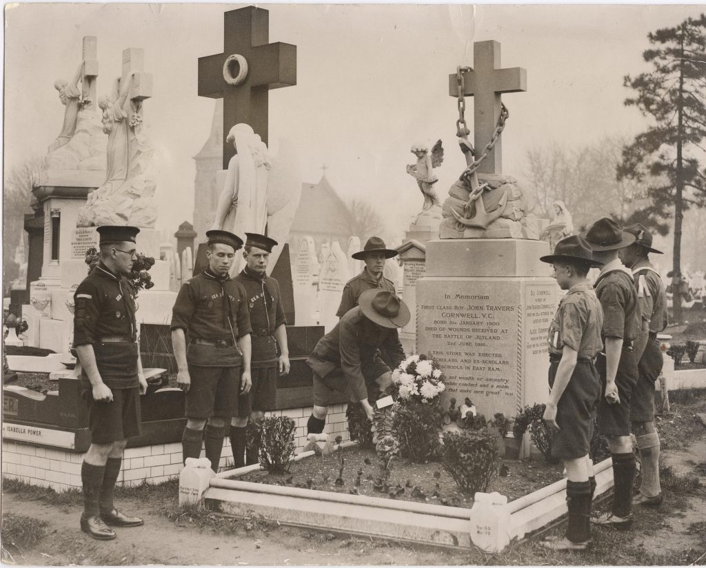 Jack Cornwell; Scout; HMS Vivid; Battle of Jutland; Jack Cornwell Grave; Manor Park Cemetery;
