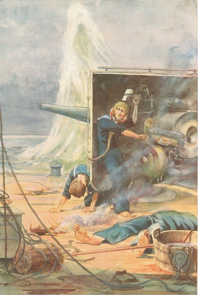 Jack Cornwell; Scout; HMS Vivid; Battle of Jutland; HMS Chester; Painting;
