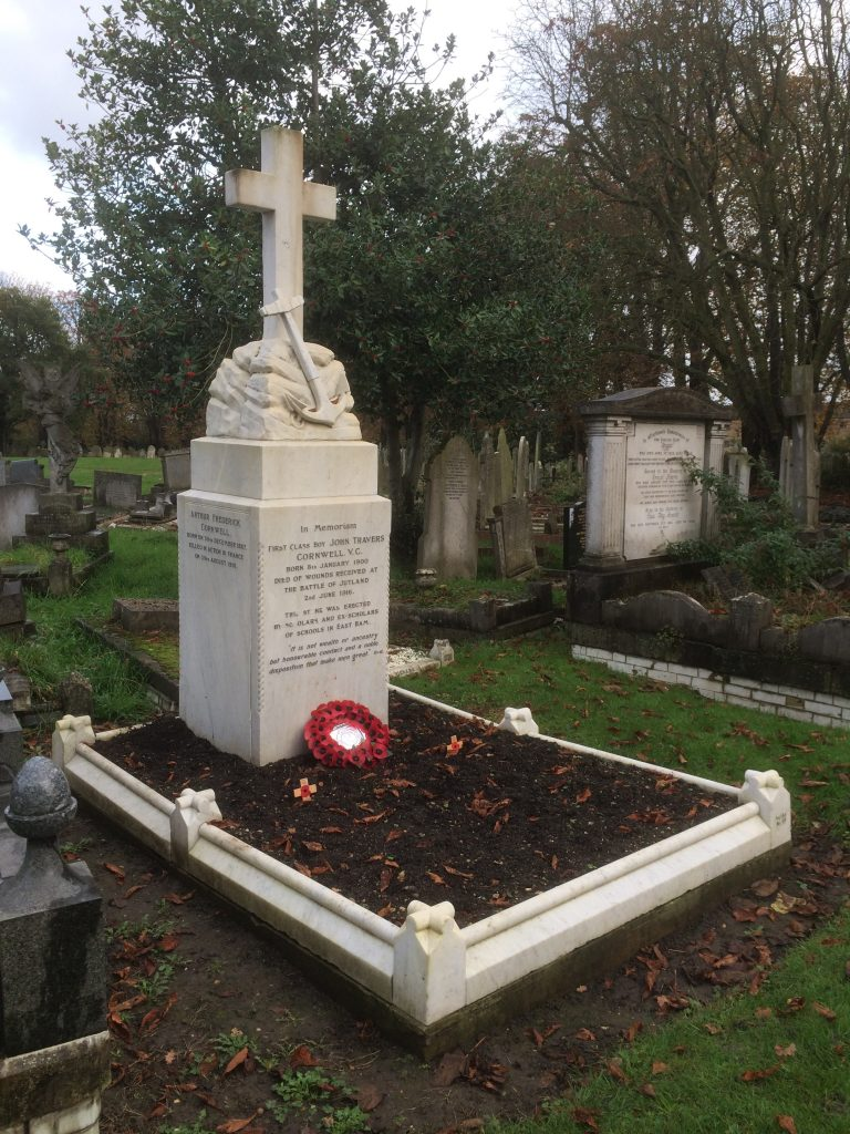 Jack Cornwell; Scout; HMS Vivid; Battle of Jutland; Jack Cornwell Grave; Manor Park Cemetery; HMS Chester;