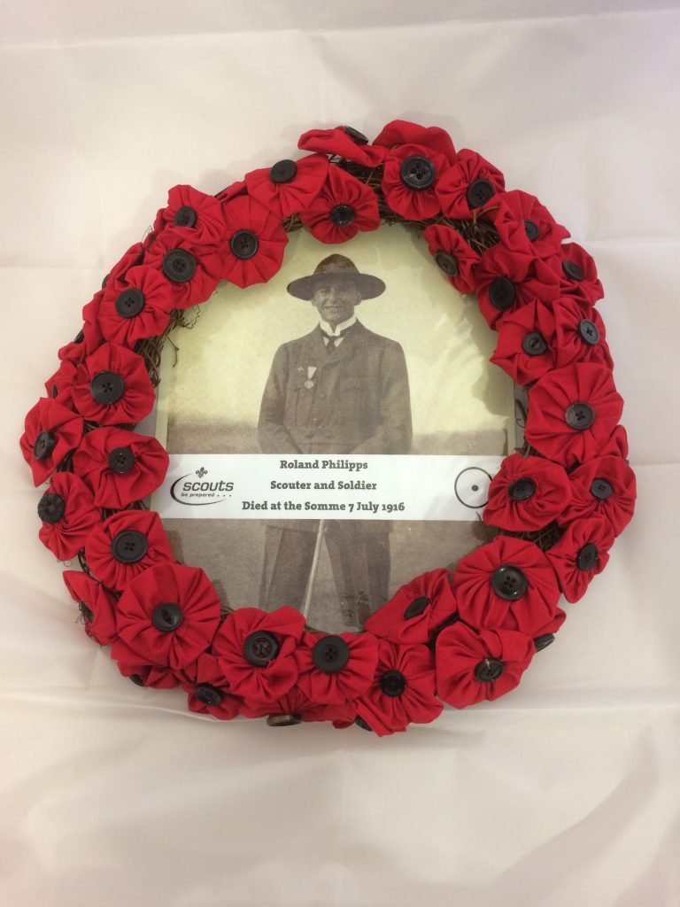 Poppies; wreath; Scouts; Roland Philipps; Battle of the Somme; Grave; Scouts remembrance;
