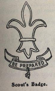 Scout emblem; fleur-de-lys; fleur-de-lis; arrowhead; Robert Baden-Powell; Scouting for Boys
